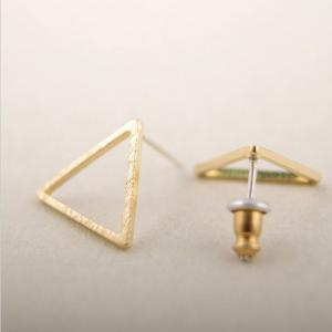 Tiny cutout triangle stud earrings,..